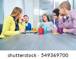portrait of startup group of... | Shutterstock . vector #549369700