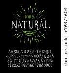 organic handwritten font... | Shutterstock .eps vector #549372604