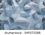 polygonal abstract geometric... | Shutterstock . vector #549373288