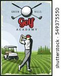 Colorful Retro Golf Poster Wit...