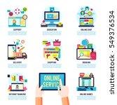 internet service  infographics... | Shutterstock .eps vector #549376534