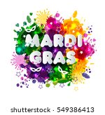 illustration of carnival mardi... | Shutterstock . vector #549386413