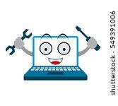 laptop repair | Shutterstock .eps vector #549391006