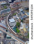 london southwark aerial view... | Shutterstock . vector #549395104