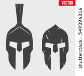 set of silhouette spartan... | Shutterstock .eps vector #549396316