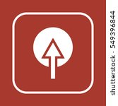 arrow  icon  isolated. flat...