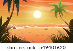 view on sunset at the beach... | Shutterstock .eps vector #549401620