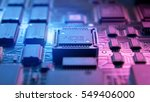 a circuit board with the... | Shutterstock . vector #549406000