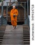 a monk in thailand. buddhist... | Shutterstock . vector #549414718