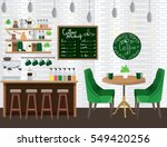 modern colorful coffee shop... | Shutterstock .eps vector #549420256