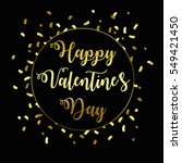 happy valentine's day. gold... | Shutterstock .eps vector #549421450