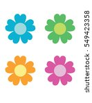 colorful vector flowers | Shutterstock .eps vector #549423358