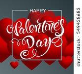 happy valentine's day | Shutterstock .eps vector #549428683