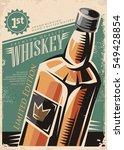 whiskey retro vector poster... | Shutterstock .eps vector #549428854