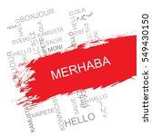 merhaba word cloud in different ... | Shutterstock .eps vector #549430150