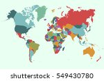 world map countries vector on... | Shutterstock .eps vector #549430780