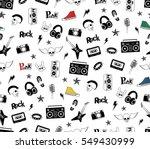 punk rock seamless pattern... | Shutterstock .eps vector #549430999