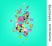 3d multicolored geometric... | Shutterstock .eps vector #549431938