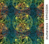 folkloric seamless pattern. all ... | Shutterstock .eps vector #549432004