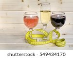 glasses of wine and champagne... | Shutterstock . vector #549434170
