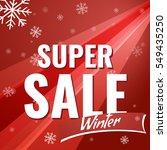 sale banner on red background... | Shutterstock .eps vector #549435250