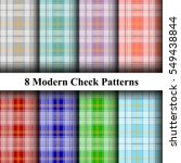 set of traditional checkered... | Shutterstock .eps vector #549438844