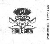 jolly roger tattoo   pirate...   Shutterstock .eps vector #549441139