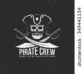 pirates crew logo. jolly roger  ... | Shutterstock .eps vector #549441154