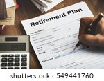 retirement plan loan liability... | Shutterstock . vector #549441760