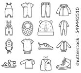 Stock vector baby clothes icons set clothing for boy isolated vector illustration on white background 549442510