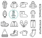 baby clothes icons set.clothing ... | Shutterstock .eps vector #549442528