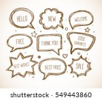 hand drawn speech and thought... | Shutterstock .eps vector #549443860