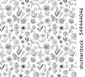 seamless pattern with doodle... | Shutterstock .eps vector #549444046