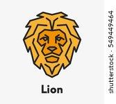 lion wild face head...   Shutterstock .eps vector #549449464