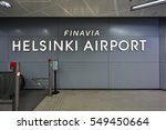 Small photo of HELSINKI, FINLAND -1 JAN 2017- Inside the terminal at the Helsinki-Vantaa Airport (HEL). The base of Finnair, the Finnish flag carrier, is open 365 days a year even when it snows.