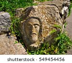face of a man on old ruined...   Shutterstock . vector #549454456