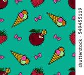 kids  cartoon seamless pattern. ... | Shutterstock .eps vector #549455119