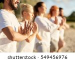 yoga  fitness  sport and... | Shutterstock . vector #549456976