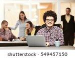portrait of startup group of... | Shutterstock . vector #549457150