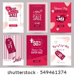 collection of  valentine's day... | Shutterstock .eps vector #549461374