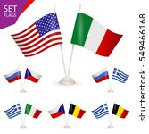 set flags. symbolizing the... | Shutterstock .eps vector #549466168