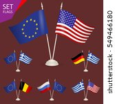 set flags. symbolizing the... | Shutterstock .eps vector #549466180