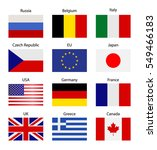 set flags. symbolizing the... | Shutterstock .eps vector #549466183