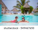 mother and kid enjoying summer... | Shutterstock . vector #549467650