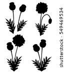 red poppies set. vector  | Shutterstock .eps vector #549469534