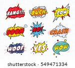 comic sound speech effect... | Shutterstock .eps vector #549471334