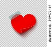 Paper Sticker In Heart Shape On ...