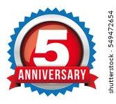 five years anniversary badge... | Shutterstock .eps vector #549472654