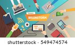 brainstorming creative team... | Shutterstock .eps vector #549474574