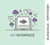 api interface data development... | Shutterstock .eps vector #549476584